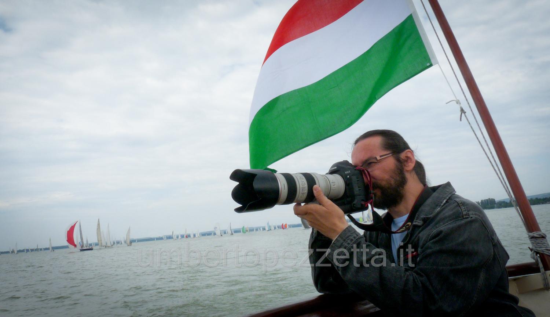 Regatta versenyt fotózok, Balaton, Hungary